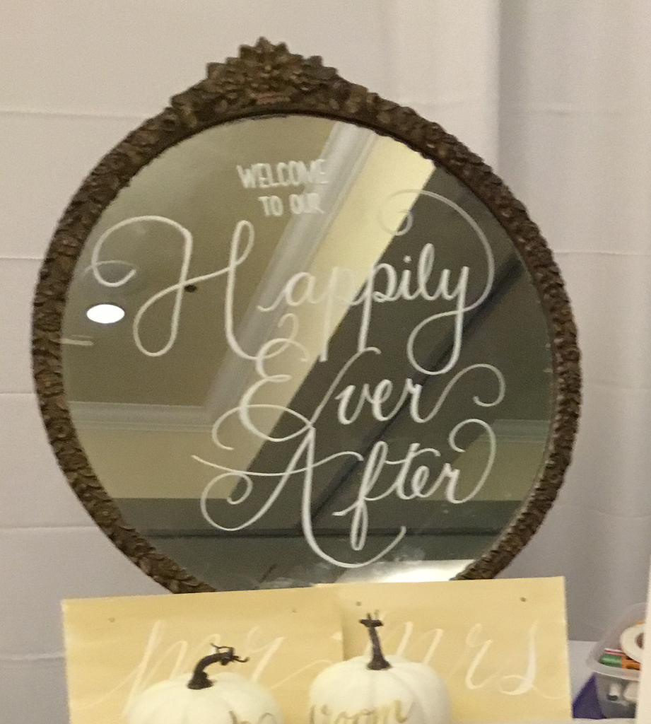 Wedding Signs For Rental Round Gold Personalized Custom