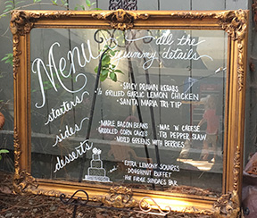Custom Gold Framed Wedding Sign Personalized Wedding Sign