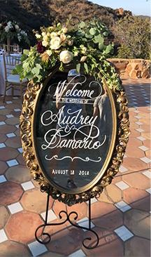 Mirror Rental Wedding Calligraphy Custom Dream Wedding Mirror