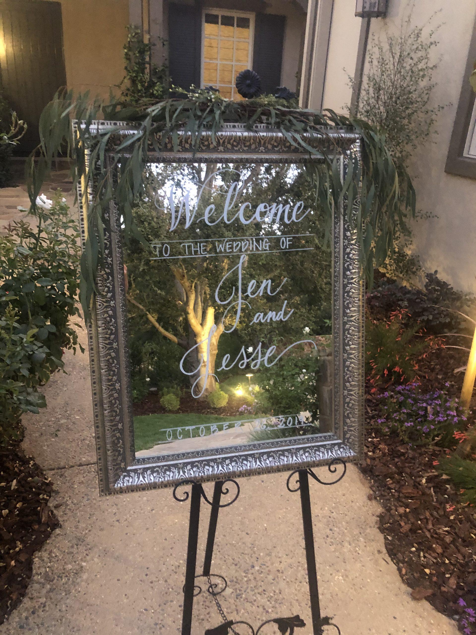 wedding mirror rental