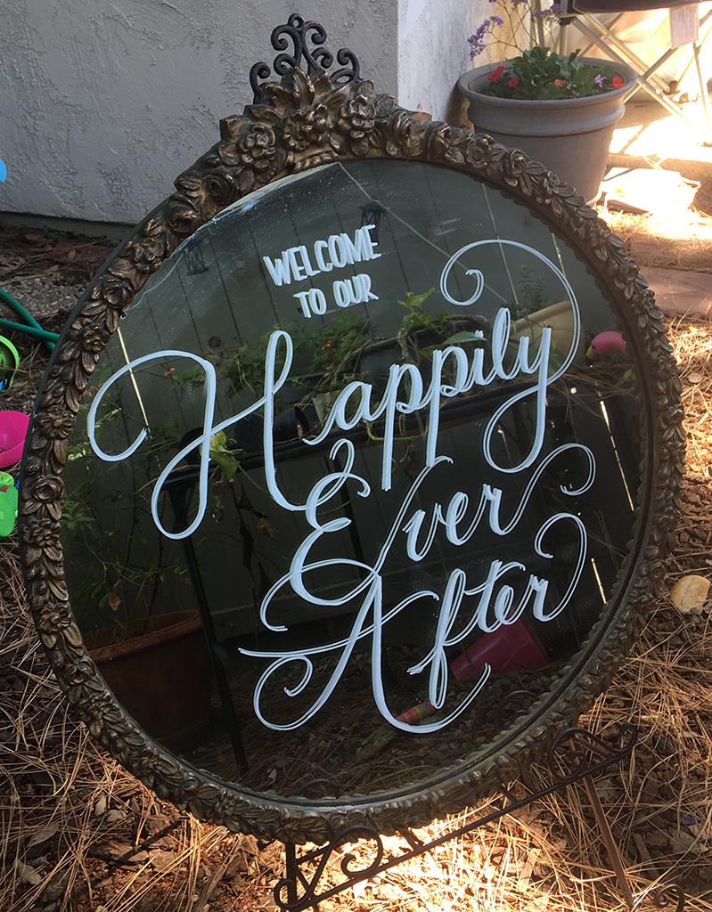 round frame for wedding rental